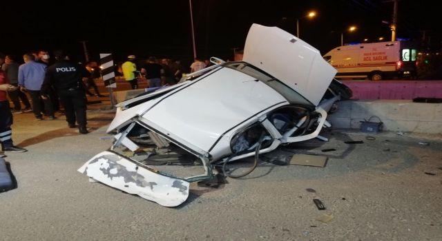Hurdaya Dönen Aracın Camından Alt Geçide Düşen Sürücü Hayatını Kaybetti