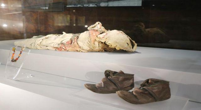 Müzede Sergilenen,9. ve 11. Yüzyıla Ait İnsan ve Hayvan Mumyaları