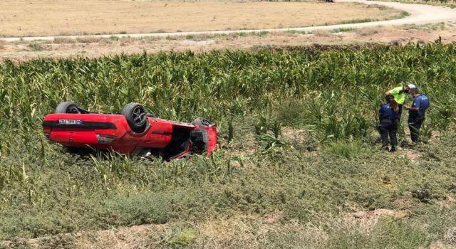 Ehliyetsiz Sürücünün Otomobili Takla Attı: 1 Yaralı