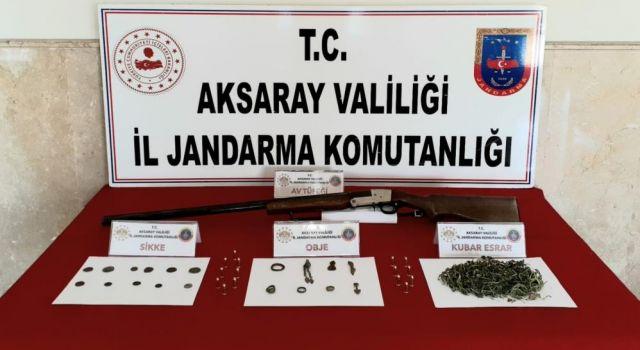 Jandarmanın Operasyonunda Uyuşturucu, Tüfek ve Tarihi Eser Ele Geçirildi