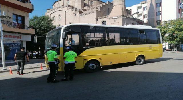 Toplu Taşımada Trafik Güvenliği Uygulamaları Sürüyor