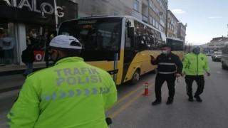 Kırmızı Kategorideki Aksaray'da Halk Otobüsleri Denetlendi