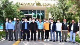 Aksaray Belediye Spor'un Yeni Yönetim Kurulundan Başkan Dinçer'e Ziyaret