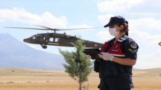 Jandarmadan Bayram Öncesi Helikopter Destekli Trafik Denetimi