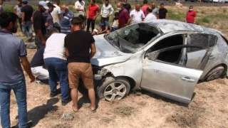 Otomobilin Hurdaya Döndüğü Kazada Sürücü Gözyaşlarını Tutamadı