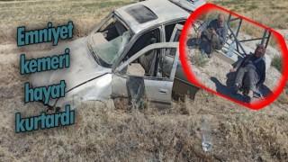 Aracın Hurdaya Döndüğü Kazada Emniyet Kemeri Hayat Kurtardı